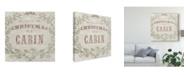 "Trademark Global June Erica Vess Cabin Christmas IV Canvas Art - 20"" x 25"""