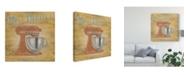 "Trademark Global June Erica Vess Hip Kitchen III Canvas Art - 15"" x 20"""