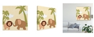 "Trademark Global June Erica Vess Baby Jungle IV Canvas Art - 15"" x 20"""