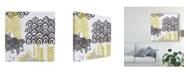 "Trademark Global June Erica Vess Block Print Abstract I Canvas Art - 27"" x 33"""
