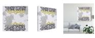 "Trademark Global June Erica Vess Block Print Abstract V Canvas Art - 15"" x 20"""