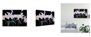 "Trademark Global Sandra Iafrate Dramatic Lilies Canvas Art - 37"" x 49"""