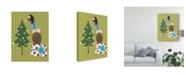 "Trademark Global June Erica Vess Happy Owlidays VI Canvas Art - 20"" x 25"""