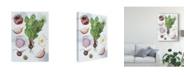 "Trademark Global Melissa Wang Food Sketches II Canvas Art - 37"" x 49"""