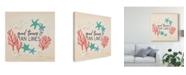"Trademark Global Janelle Penner Beach Time IV Canvas Art - 27"" x 33"""
