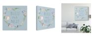"Trademark Global Jenaya Jackson Spring Sentiments VII Canvas Art - 27"" x 33"""