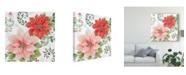 "Trademark Global Daphne Brissonnet Country Poinsettias II Canvas Art - 27"" x 33"""
