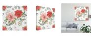 "Trademark Global Daphne Brissonnet Country Poinsettias Step 01A Canvas Art - 15"" x 20"""