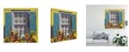 "Trademark Global Rick Novak Window Floral I Canvas Art - 27"" x 33"""
