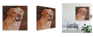 "Trademark Global Edie Fagan Cody Yellow Lab Canvas Art - 15"" x 20"""