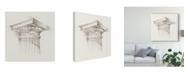 "Trademark Global Ethan Harper Column Schematic I Canvas Art - 15"" x 20"""