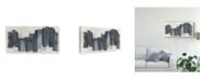 "Trademark Global June Erica Vess Monochrome Notation I Canvas Art - 37"" x 49"""