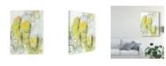 "Trademark Global Jodi Fuchs Yellow Floral Abstract II Canvas Art - 20"" x 25"""