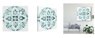 """Trademark Global June Erica Vess Aqua Medallions II Canvas Art - 27"""" x 33"""""""