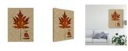 "Trademark Global Sandy Lloyd Autumn Leaf I Canvas Art - 20"" x 25"""