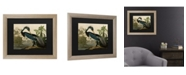 "Trademark Global John James Audubon Louisiana Heron Matted Framed Art - 37"" x 49"""