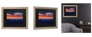 """Trademark Global Pierre Leclerc Mount Mitchell Sunset Matted Framed Art - 37"""" x 49"""""""