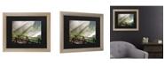 """Trademark Global Pierre Leclerc Forest Sunlight Matted Framed Art - 37"""" x 49"""""""