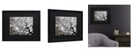 "Trademark Global Kurt Shaffer Japanese Maple Spring Abstract II Matted Framed Art - 15"" x 20"""