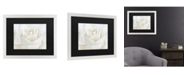 "Trademark Global Cora Niele Pure White Rose Matted Framed Art - 20"" x 25"""