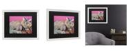 "Trademark Global Pat Saunders-White Catatonic Matted Framed Art - 20"" x 25"""