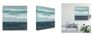 "Trademark Global Rob Delamater Teal Sea I Canvas Art - 15"" x 20"""