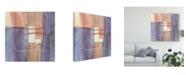 "Trademark Global Mike Schick Passage Ii Blush Purple Canvas Art - 20"" x 25"""
