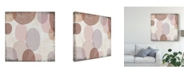 "Trademark Global Michael Mullan Blush Drips II Canvas Art - 20"" x 25"""