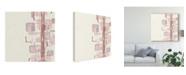 "Trademark Global Chris Paschke Mind Games Ii Blush Canvas Art - 20"" x 25"""