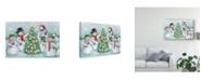 "Trademark Global Mary Urban Classic Snowmen IV Canvas Art - 20"" x 25"""