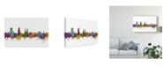 "Trademark Global Michael Tompsett Winterthur Switzerland Skyline II Canvas Art - 20"" x 25"""