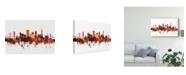 "Trademark Global Michael Tompsett San Francisco California Skyline Red III Canvas Art - 37"" x 49"""