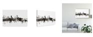 "Trademark Global Michael Tompsett Southampton England Skyline Black White Canvas Art - 37"" x 49"""