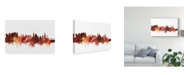 "Trademark Global Michael Tompsett Salzburg Austria Skyline Red Canvas Art - 15"" x 20"""