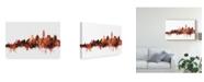 "Trademark Global Michael Tompsett Santorini Skyline Red Canvas Art - 20"" x 25"""