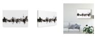 """Trademark Global Michael Tompsett Koblenz Germany Skyline Black White Canvas Art - 20"""" x 25"""""""