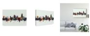 "Trademark Global Michael Tompsett Swansea Wales Skyline IV Canvas Art - 15"" x 20"""