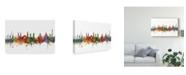 "Trademark Global Michael Tompsett Helsinki Finland Skyline II Canvas Art - 15"" x 20"""