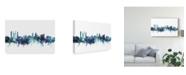 "Trademark Global Michael Tompsett St Andrews Scotland Skyline Blue Canvas Art - 15"" x 20"""