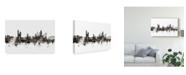 """Trademark Global Michael Tompsett Krakow Poland Skyline Black White Canvas Art - 20"""" x 25"""""""