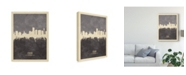 "Trademark Global Michael Tompsett Essen Germany Skyline Gray Canvas Art - 15"" x 20"""