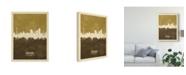 "Trademark Global Michael Tompsett Dortmund Germany Skyline Brown Canvas Art - 20"" x 25"""