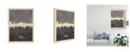 "Trademark Global Michael Tompsett Bremen Germany Skyline Gray Canvas Art - 20"" x 25"""