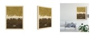 "Trademark Global Michael Tompsett Lubeck Germany Skyline Brown Canvas Art - 15"" x 20"""