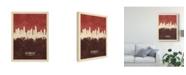 "Trademark Global Michael Tompsett Los Angeles California Skyline Red II Canvas Art - 15"" x 20"""