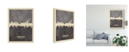 "Trademark Global Michael Tompsett Johannesburg South Africa Skyline Gray Canvas Art - 15"" x 20"""