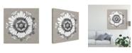 """Trademark Global Vision Studio Neutral Rosette Detail V Canvas Art - 15"""" x 20"""""""