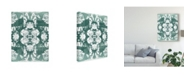 "Trademark Global June Erica Vess Sea Green Kaleidoscope IV Canvas Art - 37"" x 49"""