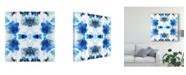 "Trademark Global June Erica Vess Blue Kaleidoscope II Canvas Art - 27"" x 33"""