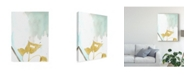 "Trademark Global Jennifer Goldberger Ginkgo on Dusty Teal III Canvas Art - 37"" x 49"""